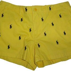 Ralph Lauren Sport Chinos Shorts Yellow Sz 12